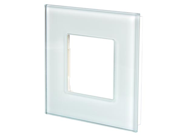 glass cover for BTicino® LivingLight, white