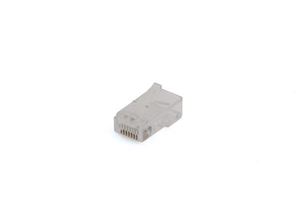 CONECTOR MODULAR RJ45  8P8C -  REDONDO