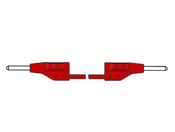 CABLE DE MEDICIÓN MOLDEADO 2mm 50cm  / ROJO (MVL 2/505)