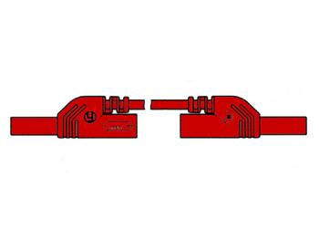 CABLE DE MEDICIÓN MOLDEADO CON CONTACTO PROTEGIDO 4mm 25cm / ROJO (MLB-SH/WS 25/1)