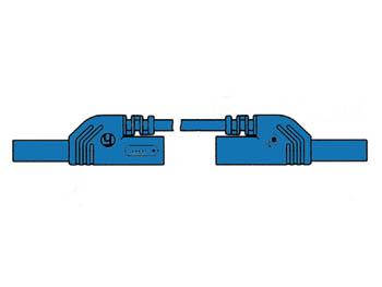 CABLE DE MEDICIÓN CON CONTACTO PROTEGIDO 4mm 50cm / AZUL (MLB-SH/WS 50/1)