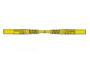 CABLE DE MEDICIÓN MOLDEADO CON CONTACTO PROTEGIDO 25cm, 4mm / AMARILLO (MLB/GG-SH 25/1)