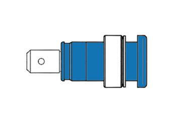 HEMBRILLA DE SEGURIDAD AISLADA 4mm / AZUL (SEB 2620-F6,3)