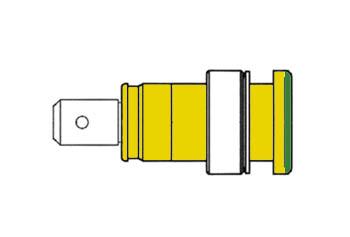 HEMBRILLA DE SEGURIDAD AISLADA 4mm / AMARILLA + VERDE (SEB 2620-F6,3)