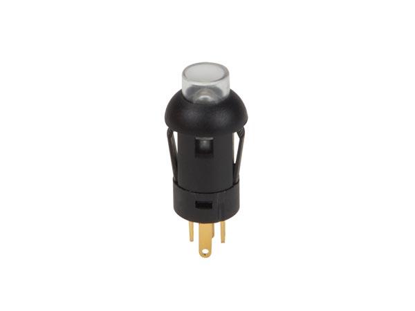 MINI PULSADOR - REDONDO - SPST (OFF-ON) - 1P - CON CABLES - LED AMARILLO