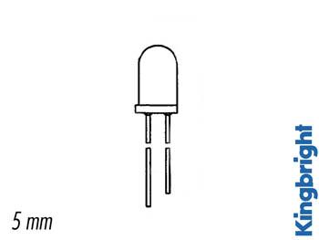 LED INTERMITENTE 5mm VERDE DIFUSO