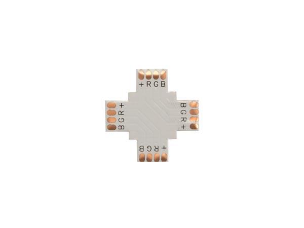 CONECTOR DE CI FLEXIBLE - FORMA DE '+' - 10 mm COLOR RGB