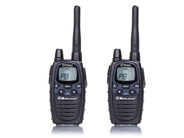 MIDLAND® G7 PRO - PMR446 BLISTER CON DOS WALKIE-TALKIES PROFESIONALES